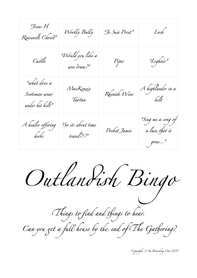 outlandish Bingo